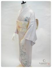 付け下げ訪問着 レンタル 東京 白 結婚式